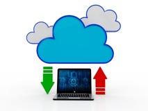 concepto computacional de la nube de la representación 3d, red de la nube Fotos de archivo