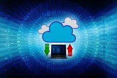 concepto computacional de la nube de la representación 3d, red de la nube Fotos de archivo libres de regalías