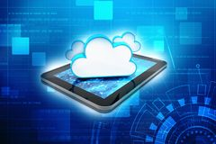 concepto computacional de la nube de la representación 3d, red de la nube Fotografía de archivo libre de regalías