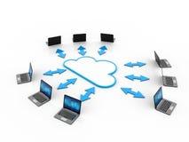 concepto computacional de la nube de la representación 3d, red de la nube stock de ilustración