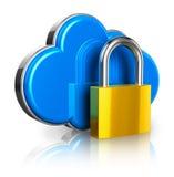 Concepto computacional de la seguridad de la nube Fotografía de archivo libre de regalías