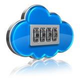 Concepto computacional de la seguridad de la nube ilustración del vector