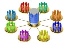 Concepto computacional del almacenamiento de la base de datos Fotografía de archivo libre de regalías