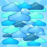 Concepto computacional del batlle de la nube Imagen de archivo