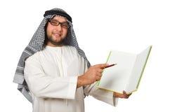 Concepto con el hombre árabe aislado Fotografía de archivo libre de regalías