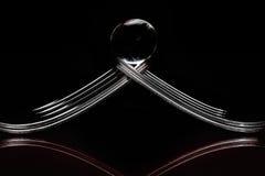 Concepto con la bifurcación en fondo negro Foto de archivo libre de regalías