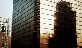 Concepto concreto céntrico de la selva del horizonte del paisaje urbano del edificio Fotos de archivo