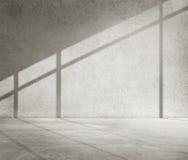 Concepto concreto del papel pintado del cemento de la sombra de la esquina del sitio fotografía de archivo libre de regalías