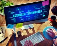 Concepto conectado de la tecnología de los abejones de la tecnología avanzada imagen de archivo libre de regalías