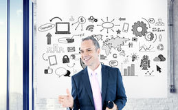 Concepto confiado de Executive Success Happiness del hombre de negocios Fotos de archivo