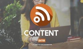 Concepto contento de la conexión de las comunicaciones globales del blog Imagen de archivo libre de regalías