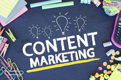 Concepto contento del negocio del márketing Imagen de archivo libre de regalías