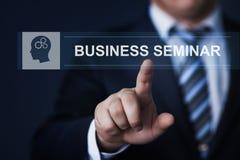 Concepto corporativo de la tecnología de Internet del entrenamiento de Webinar del seminario del negocio del conocimiento corpora Imagen de archivo libre de regalías
