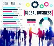 Concepto corporativo del desarrollo del crecimiento del negocio global fotos de archivo libres de regalías