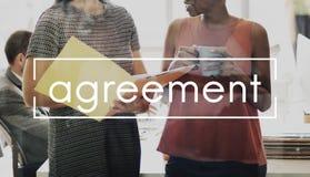 Concepto corporativo del negocio del contrato del documento del acuerdo Imágenes de archivo libres de regalías