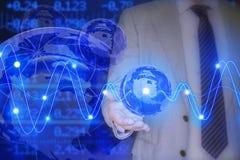 Concepto corporativo del negocio global con el globo de cristal Fotografía de archivo