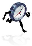 Concepto corriente del reloj Imagenes de archivo