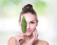 Concepto cosmético orgánico foto de archivo