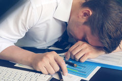 Concepto crónico del síndrome del cansancio Foto de archivo libre de regalías