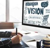 Concepto creativo de la blanco de la inspiración de las ideas de Vision imágenes de archivo libres de regalías