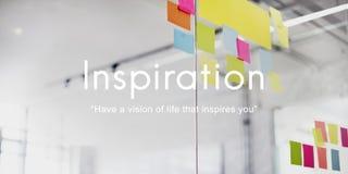 Concepto creativo de la capacidad de las aspiraciones de Vision de la inspiración imagen de archivo