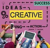 Concepto creativo de la creatividad de la inspiración de la imaginación de las ideas del diseño imagen de archivo