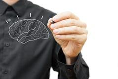 Concepto creativo de la idea del cerebro Fotografía de archivo libre de regalías