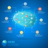 Concepto creativo de la idea del cerebro del diseño Fotos de archivo