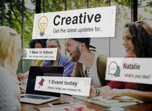 Concepto creativo de la inspiración de la innovación de la imaginación de las ideas fotos de archivo libres de regalías