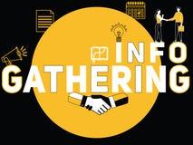 Concepto creativo de la palabra que recopila la información y gente que hace actividades libre illustration