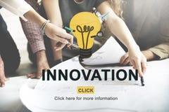 Concepto creativo de la tecnología de diseño de la invención de la innovación fotos de archivo