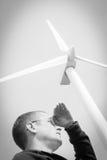 Concepto creativo de la turbina de viento Fotografía de archivo