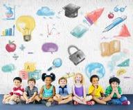 Concepto creativo de las ideas de la innovación de la inspiración del dibujo foto de archivo libre de regalías