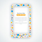 Concepto creativo de márketing en línea Imágenes de archivo libres de regalías