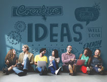 Concepto creativo de Vision de la estrategia de la misión de las ideas Fotos de archivo libres de regalías