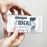 Concepto creativo de Vision de la estrategia de la misión de las ideas Foto de archivo libre de regalías