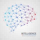 Concepto creativo del cerebro humano Foto de archivo libre de regalías