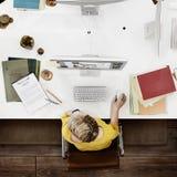 Concepto creativo del empleo de la inspiración de las empresarias imagen de archivo libre de regalías