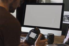 Concepto creativo del estudio del diseño del empleo de las ideas de la fotografía Imagen de archivo libre de regalías
