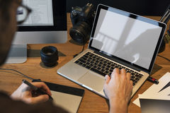 Concepto creativo del estudio del diseño del empleo de las ideas de la fotografía Fotografía de archivo