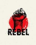 Concepto creativo del vector del Grunge de SocialProtest de la revolución en fondo áspero del Grunge ilustración del vector