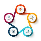 Concepto creativo para infographic con 5 pasos Foto de archivo