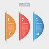 Concepto creativo para infographic Concepto del negocio con la opción 3 ilustración del vector