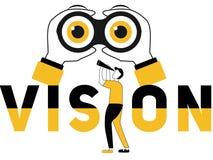 Concepto creativo Vision de la palabra y gente que hace cosas ilustración del vector