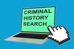 Concepto criminal de la búsqueda de la historia libre illustration