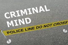 Concepto criminal de la mente libre illustration