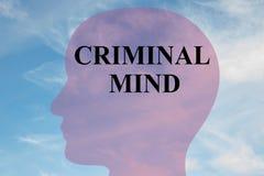 Concepto criminal de la mente ilustración del vector