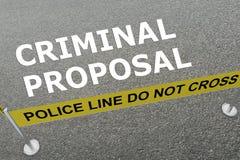 Concepto criminal de la oferta libre illustration