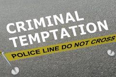Concepto criminal de la tentación ilustración del vector