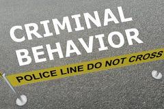 Concepto criminal del comportamiento libre illustration